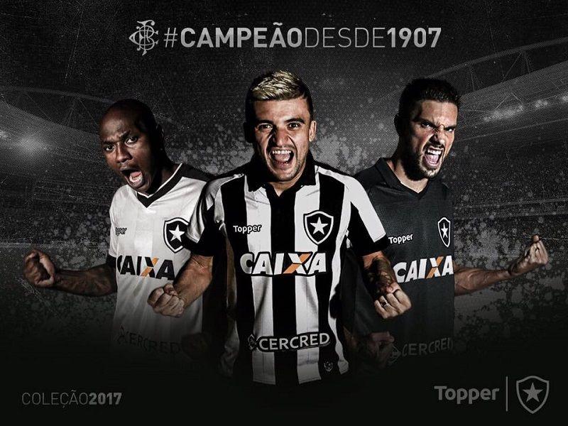 Camisas do Botafogo 2017-2018 Topper  0fde5f560e92c