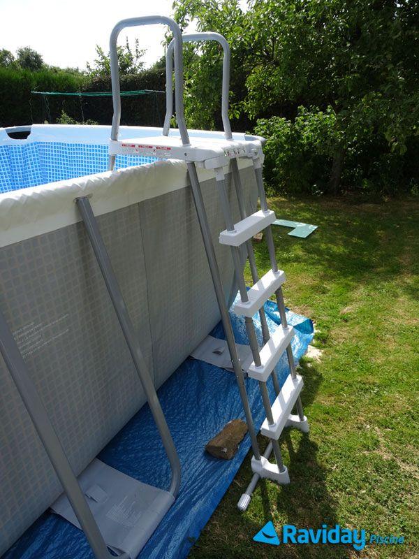 Echelle avec s curit enfant intex piscine tubulaire - Comment recuperer eau trouble piscine ...
