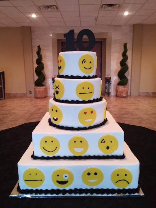 Emoji Cake Custom Cakes Emoji Cake 13 Birthday Cake