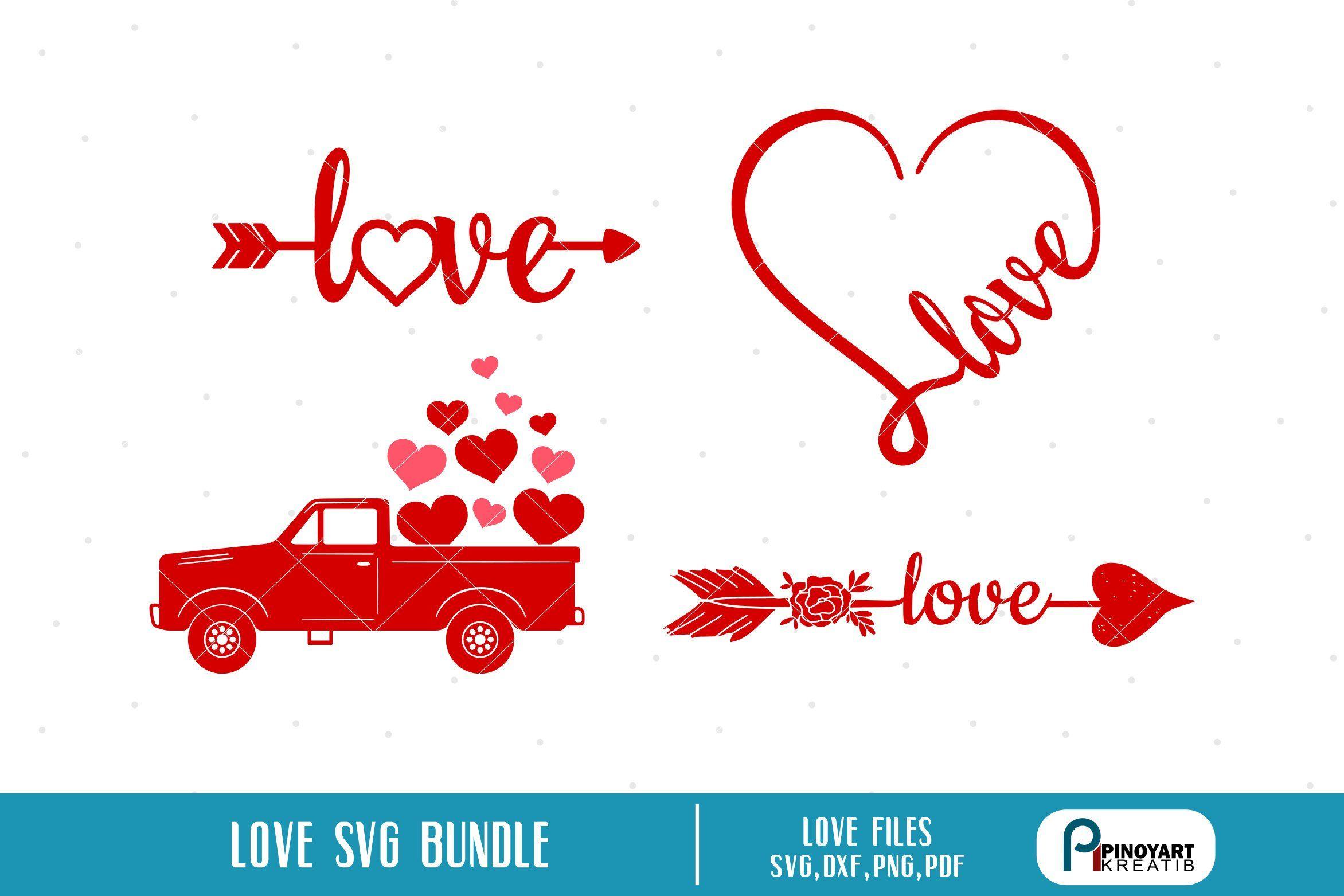 Love SVG Bundle, Valentines svg, Love Arrow svg, Love