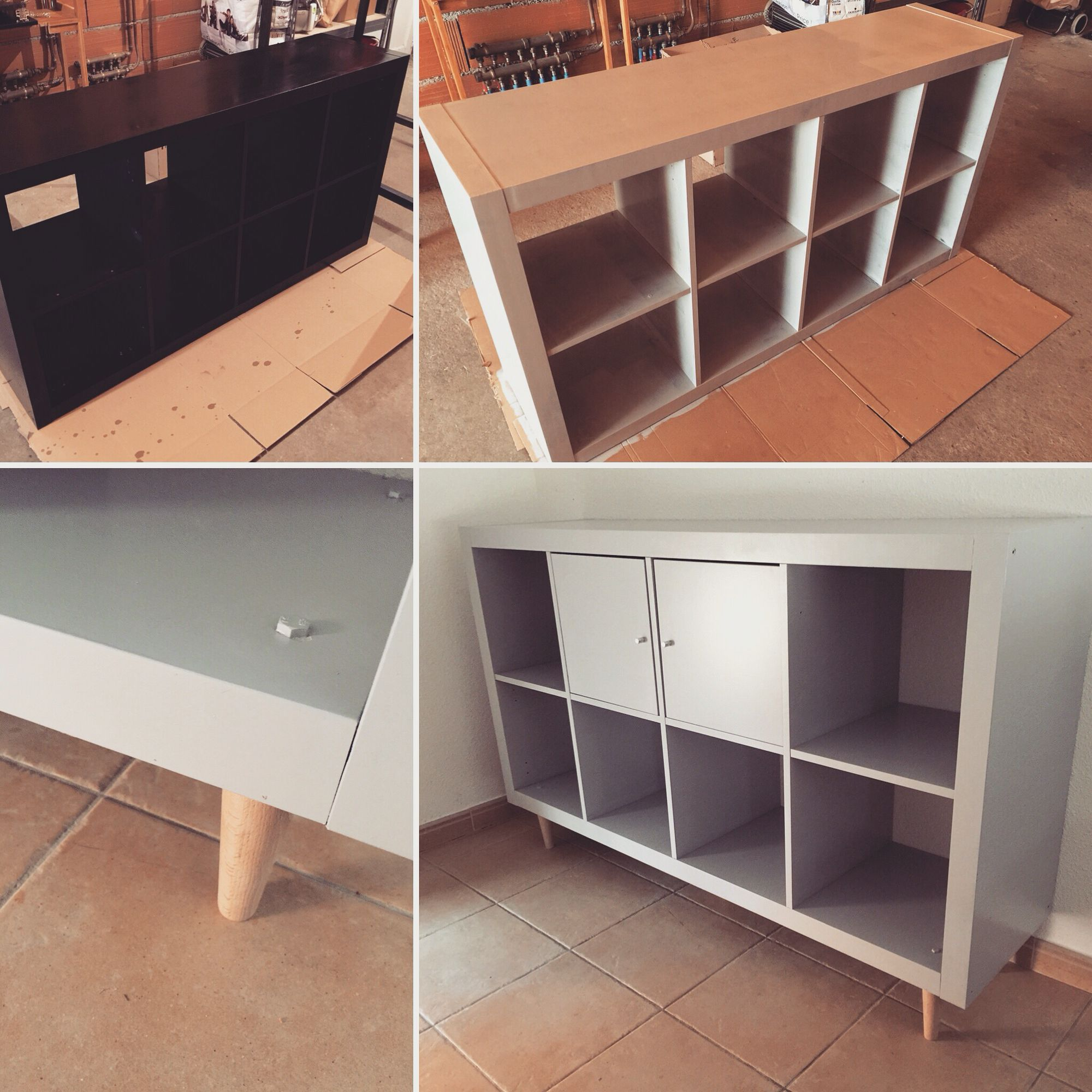Customiser Un Meuble Ikea Kallax Ou Expedit Cr Ation By Delph Ine  # Petit Meubles Tv Avec Pieds Central Ikea
