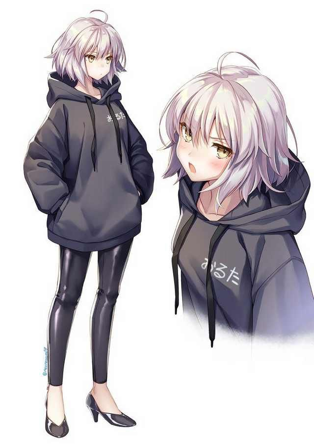 Jalter Wearing An Oversized Hoodie Fate Series Anime Anime