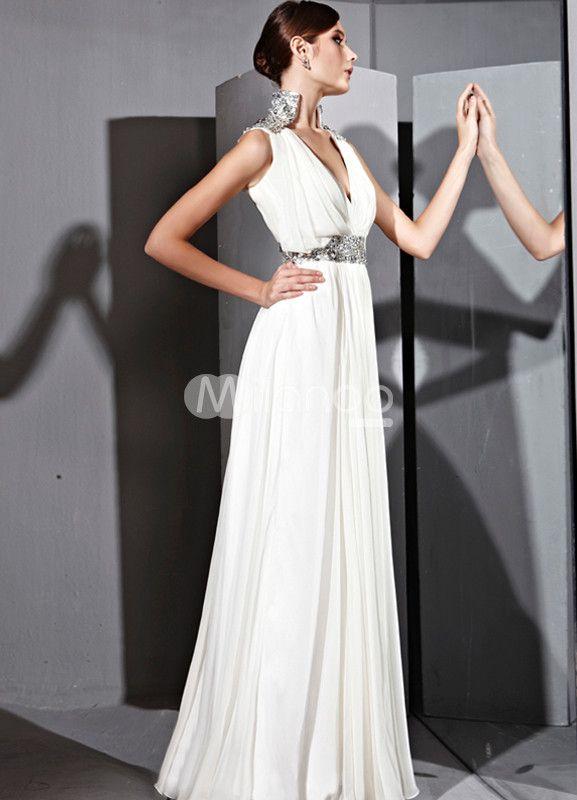 A-line Silk Satin V-neck Slimming Prom Dress | Silk satin, Prom and ...