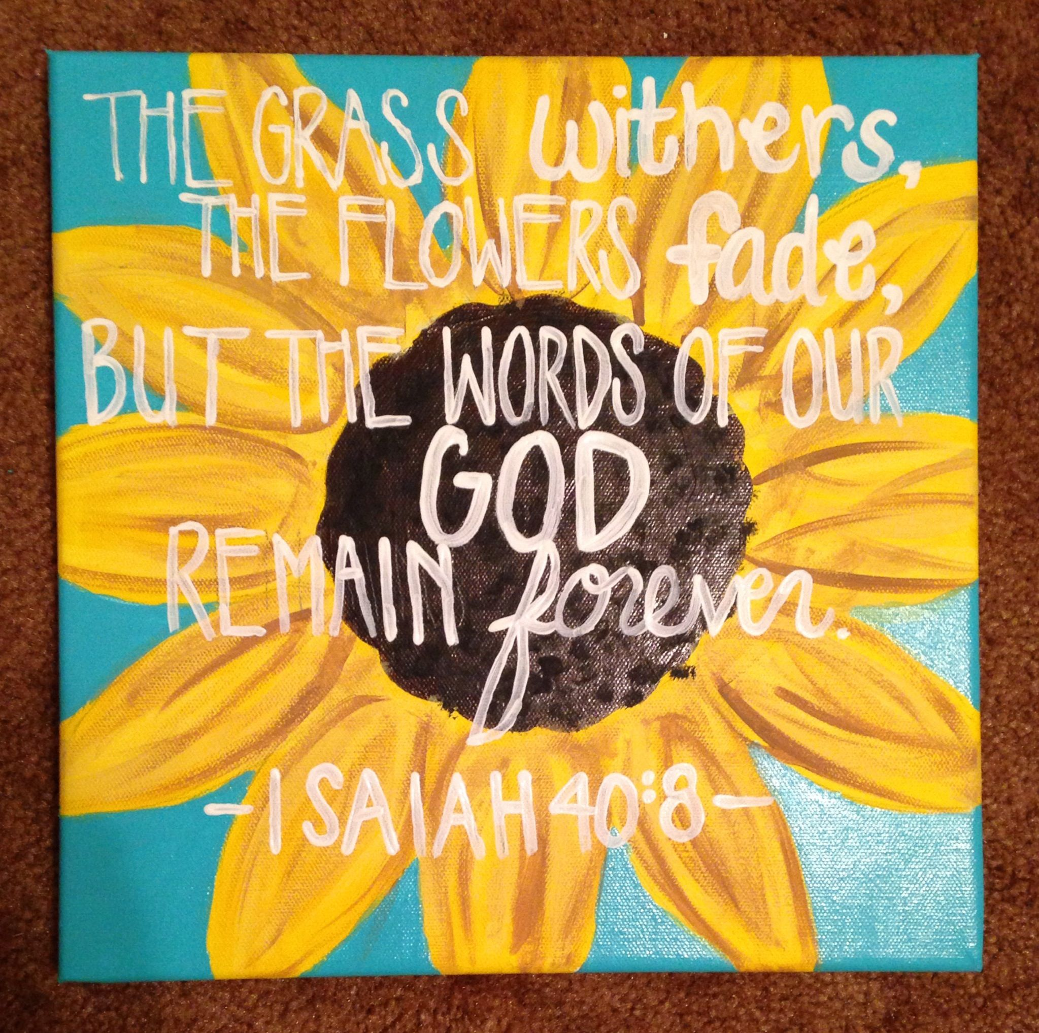 Isaiah 40 8 Painted By Mrs