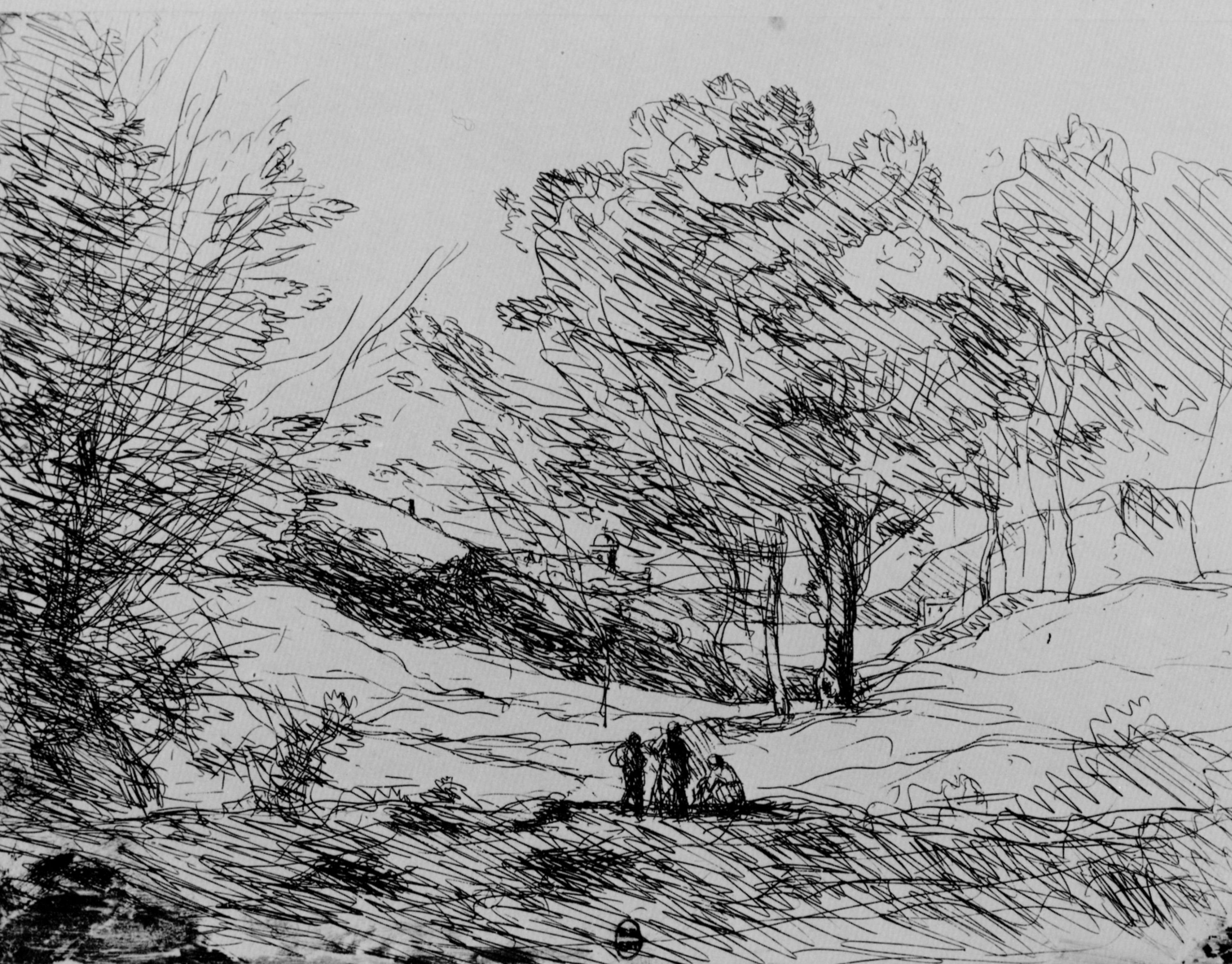 17 Best Images About Jean Baptiste Camille Corot On Pinterest Landscape Drawings Drawing Scenery Landscape Pencil Drawings