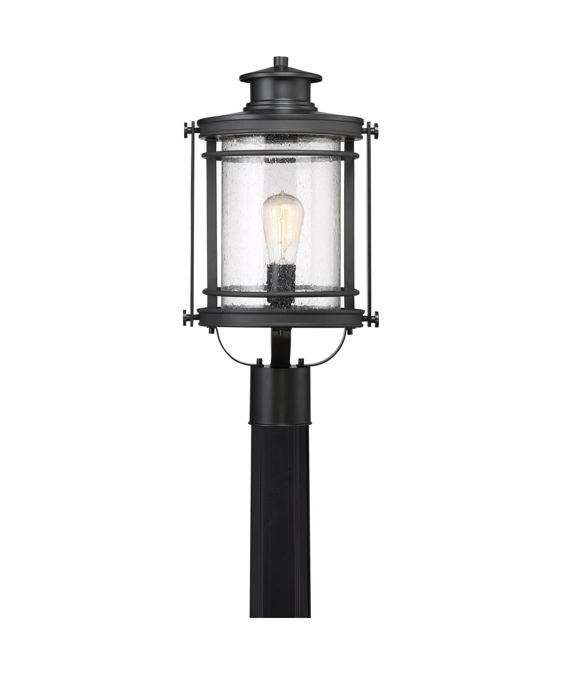 Booker 19 Inch Tall 1 Light Outdoor Post Lamp By Quoizel With Images Outdoor Post Lights Post Lights Lantern Post