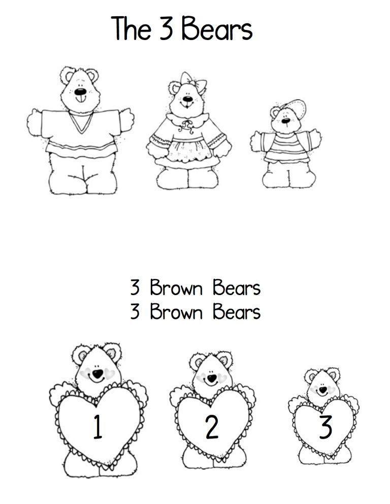 Bear song book1 teddy bear coloring pages bear songs bear