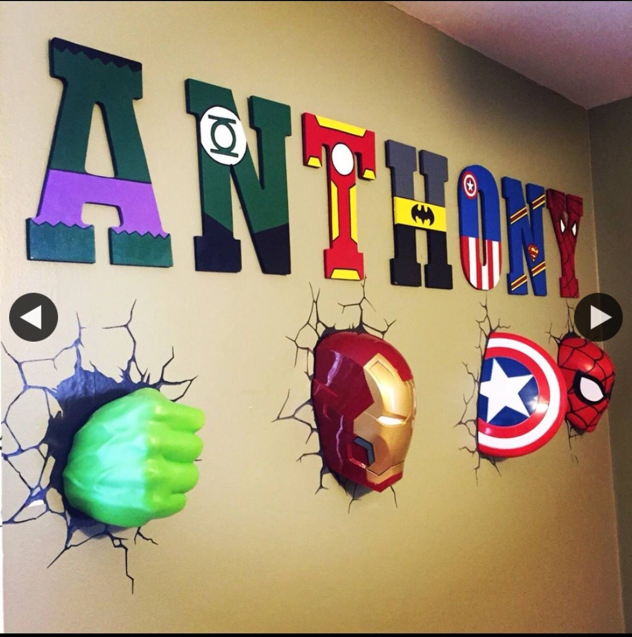 All handpainted. 10.5in tall wooden letters made by me.   Hand ...