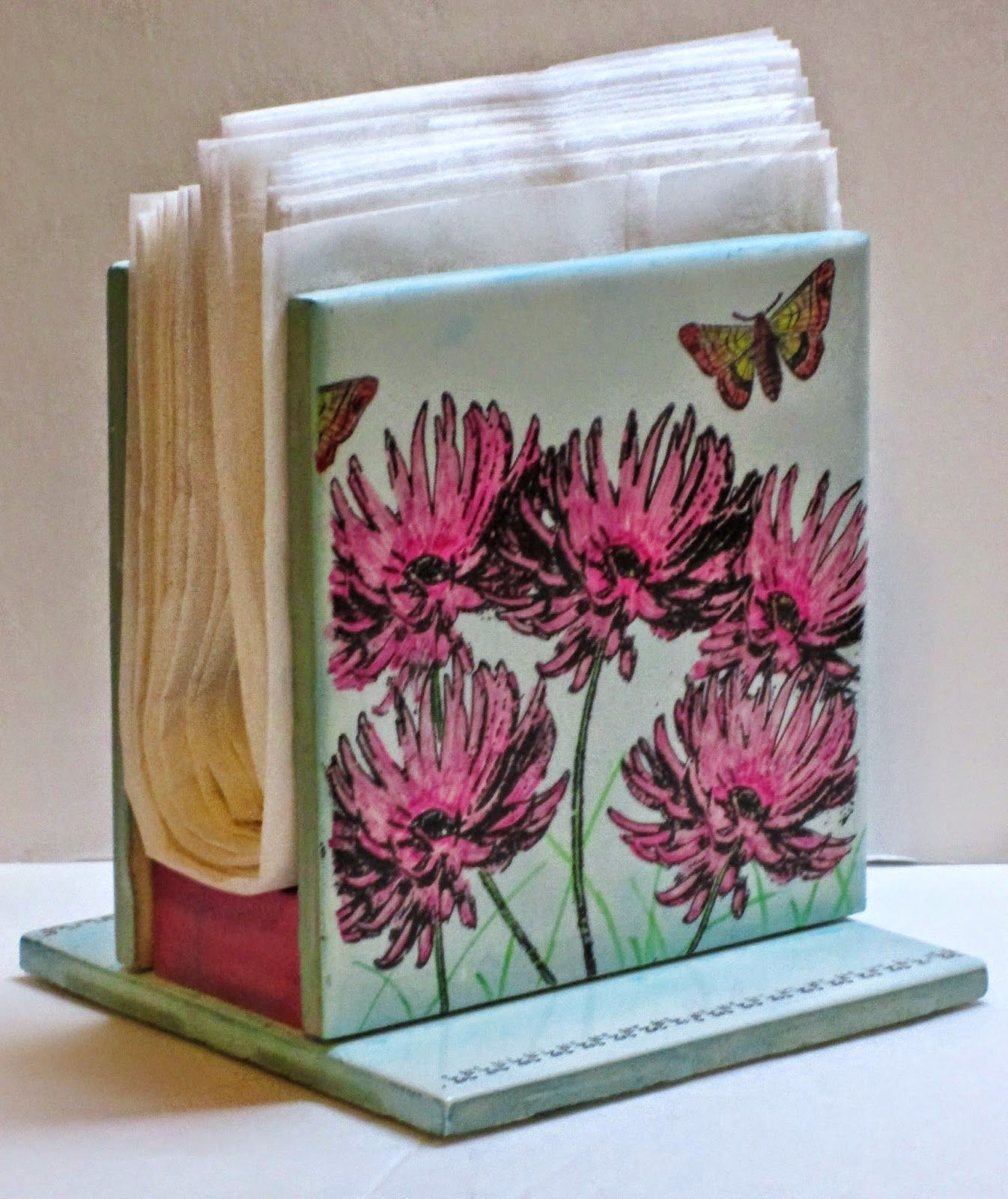 Ceramic tile napkin holder i just posted on my blog make sure to ceramic tile napkin holder such a good idea for using up those alcohol inked tiles dailygadgetfo Choice Image