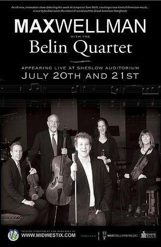 Liz Palik's wonderful work - the poster for the Belin concert.