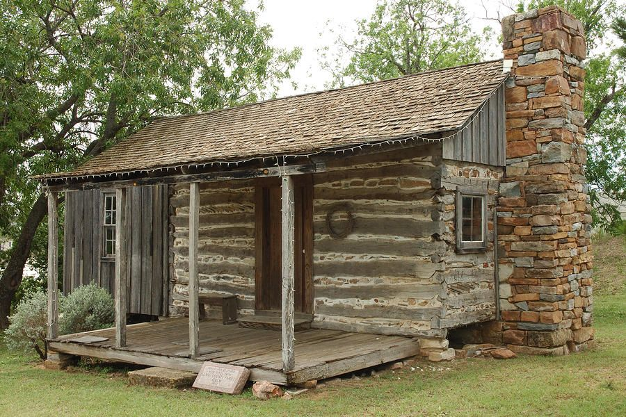 Early Texas Cabin By Robert Anschutz Log Cabin Exterior Log Cabin Rustic Cabin