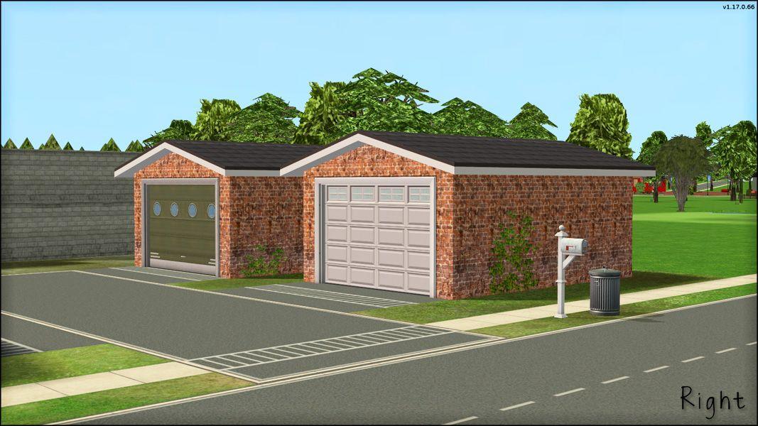 Mod The Sims Rotatable Garage Doors Sims Garage Doors Modular Lounges