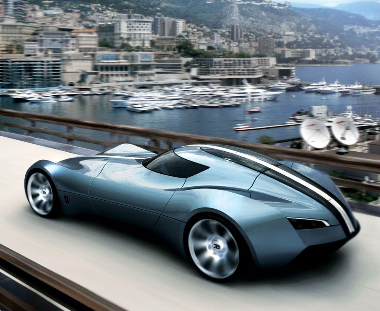 Bugatti Aerolithe Concept in Monaco. Not very original http://www.dieselstation.com/cars/saab-aerox-concept-a422.html