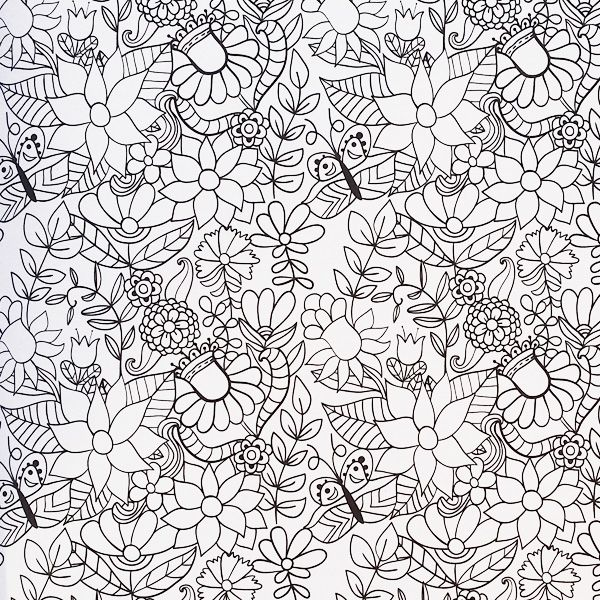 A nature-inspired pattern from The Creative Colouring Book for ...
