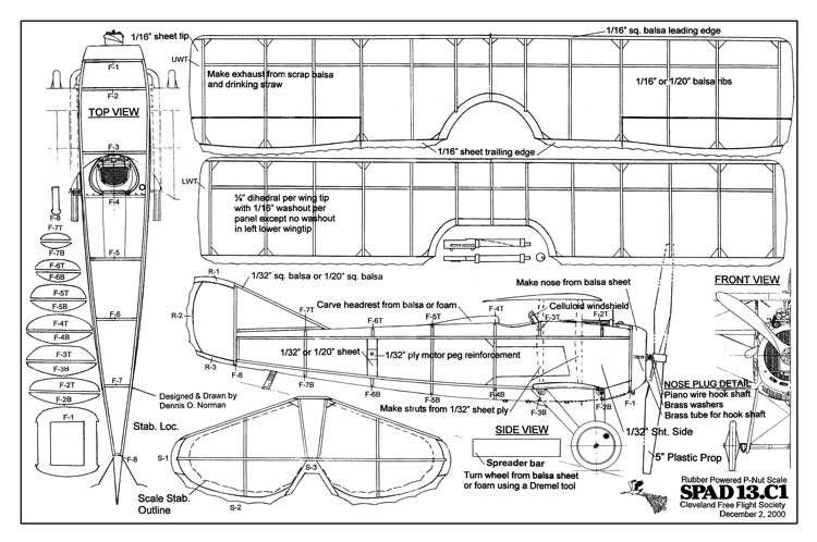 Spad 13 C1 Jest Jednym Z Planow Modelu Samolotu Dostepnych Do Pobrania I Wydrukowania Balsa Wood Models Model Airplanes Model Planes