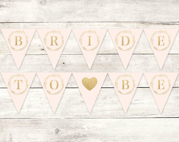 photograph about Free Printable Bridal Shower Banner titled Pin via Robin Garn Thomas upon Purple Gold Bridal Shower inside of