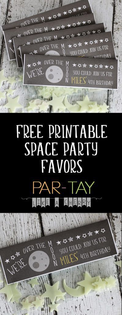 Free Printable Space Party Favors - Party Like a Cherry