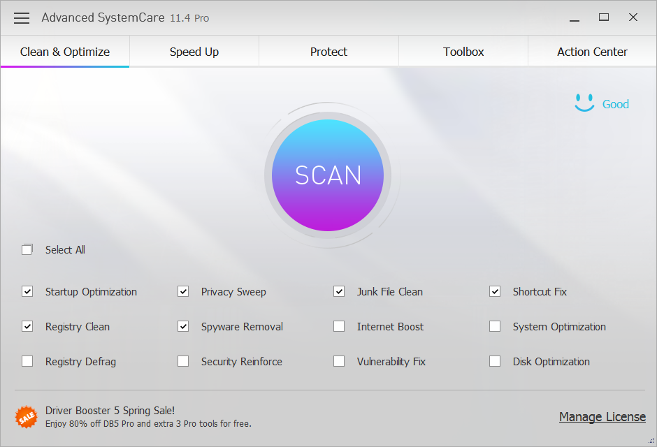 iobit advanced systemcare 11.4 key