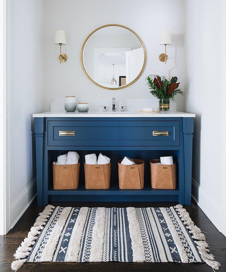 This Is One Beautiful Blue Vanity Paint Color Is Benjamin Moore