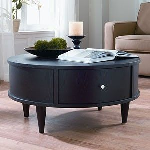 Love How Simple This Looks But Gives Storage Too Coffee Table Coffee Table With Storage Round Coffee Table
