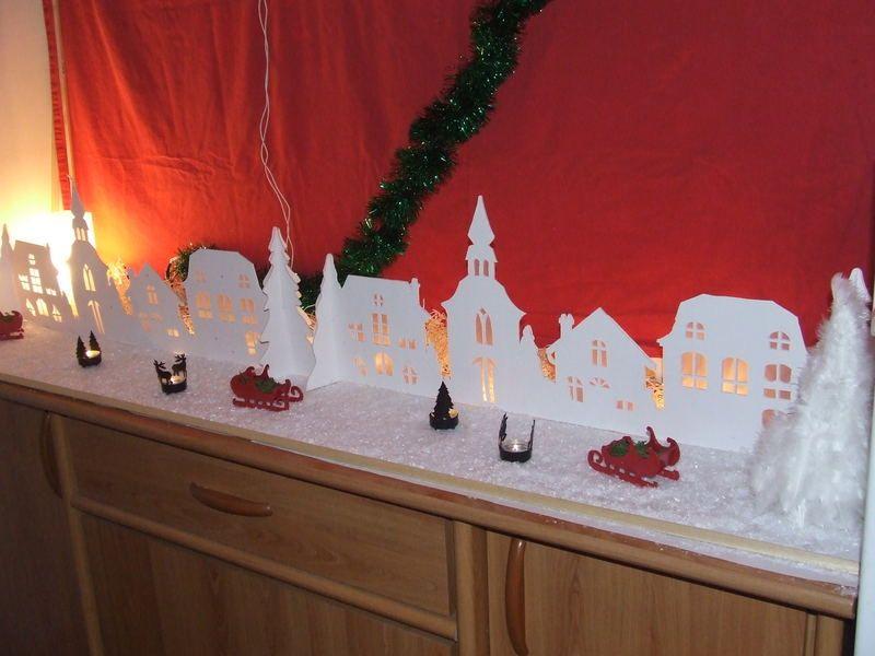le village en carton plume noel christmas pinterest carton plume carton et no l. Black Bedroom Furniture Sets. Home Design Ideas