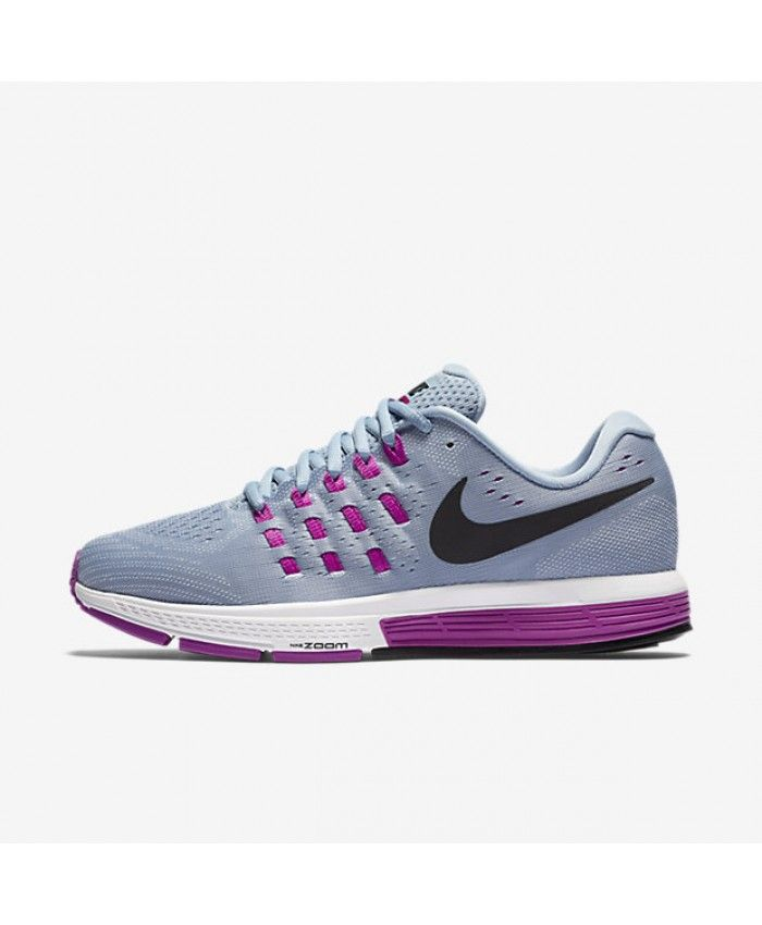 fc6d20c44df Nike Air Zoom Vomero 11 Blue Grey Hyper Violet Blue Tint Black Womens Shoe