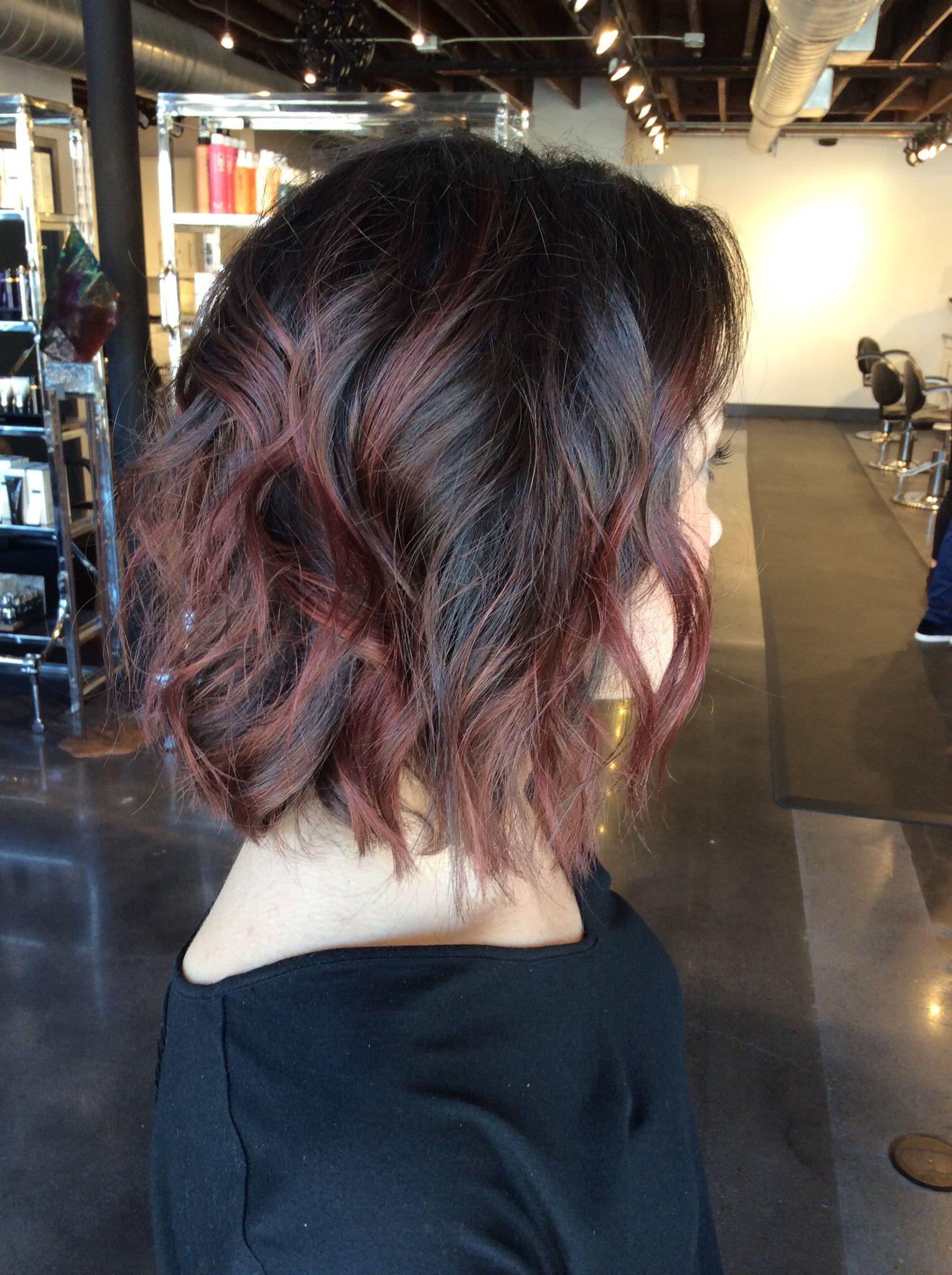 Bayalage On Short Hair Red Bayalage Bayalage On Short Hair Red Balayage Hair Balayage Brunette