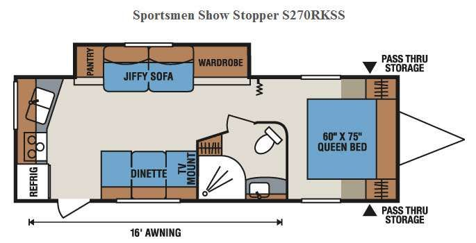 New 2016 Kz Sportsmen Show Stopper S270rkss Travel Trailer At Rv