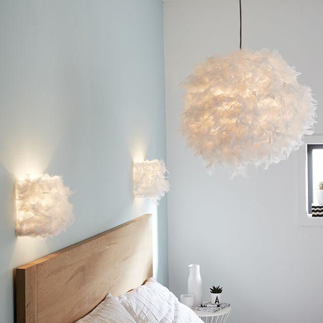 Suspension blanche Kokot E27 15W - CASTORAMA | Chambres de fille ...
