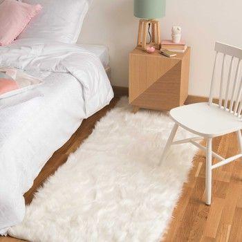 Tapis En Fausse Fourrure Blanc 80 X 200 Cm Oumka Rug Decor Soft Carpet Persian Rug Living Room
