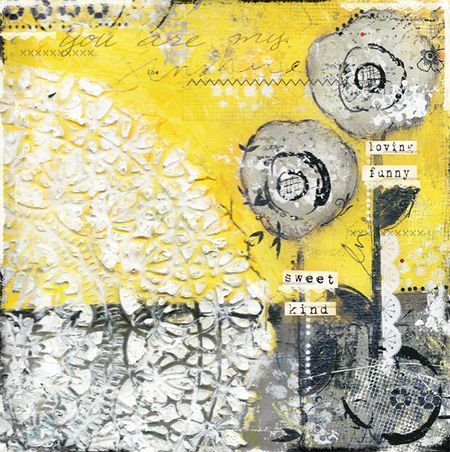 Yellow & Gray = Love.  I am in so much love with this canvas!