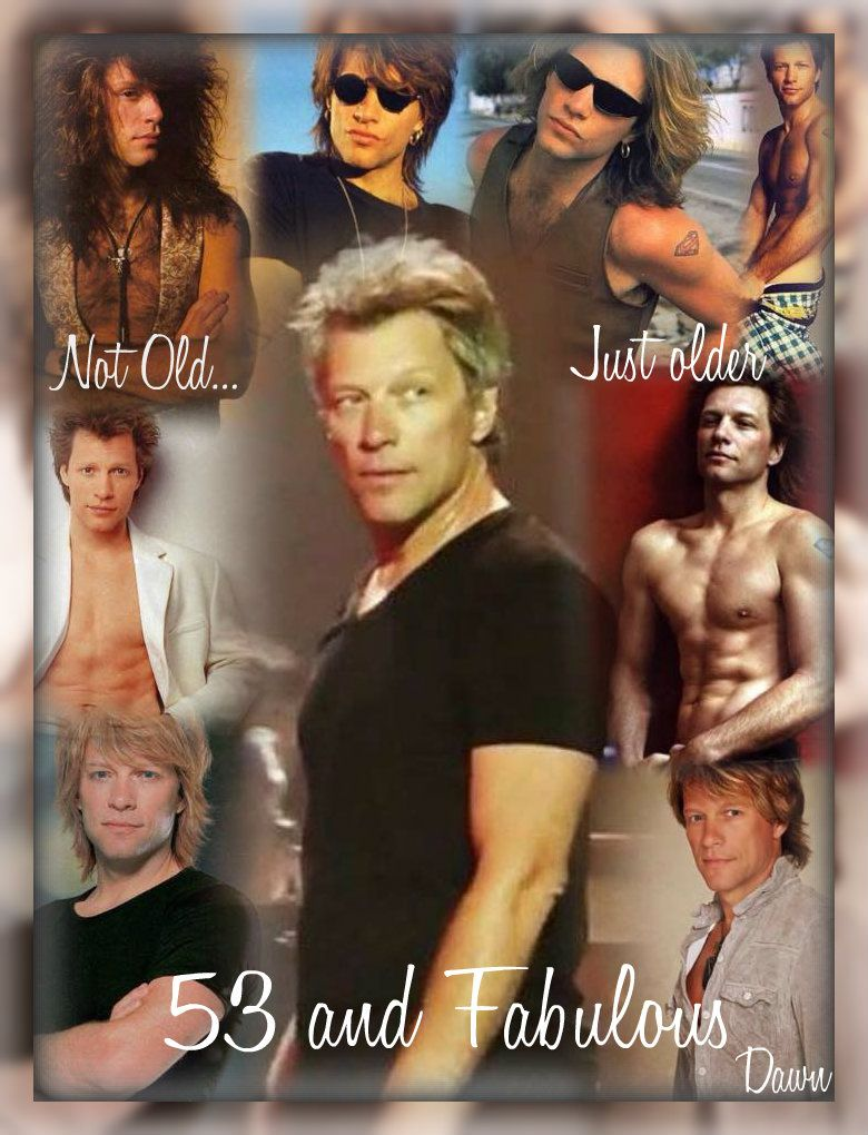 53 and Fabulous Happy Birthday Jon Jon Bon Jovi – Bon Jovi Birthday Card