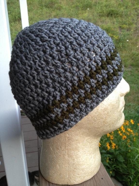 Crochet Beanie, Easy, Simple, Skull Cap | Simple skull, Cap and Crochet