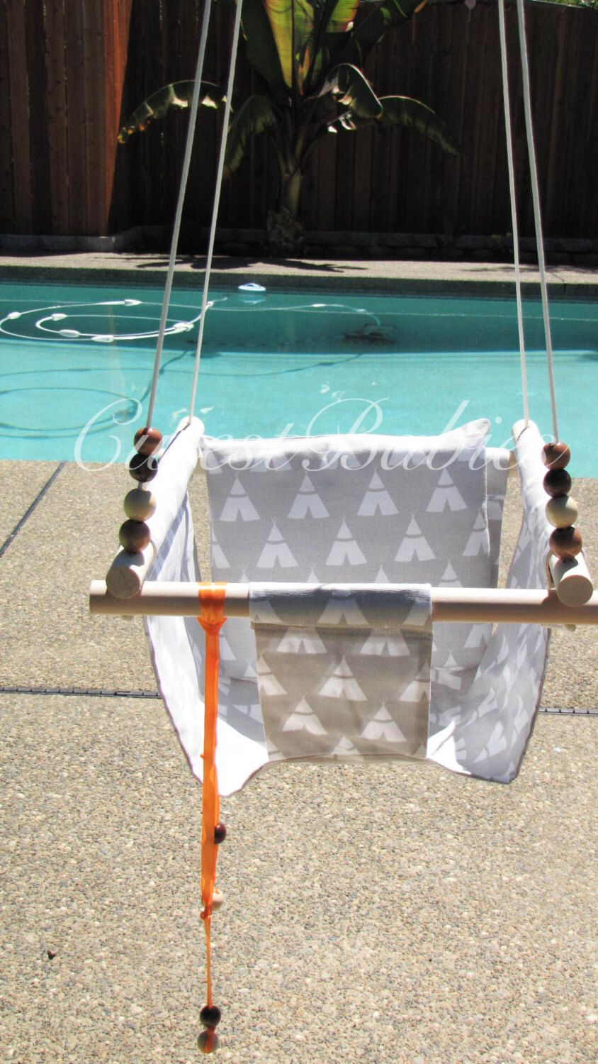 Baby swing with a pillow indooroutdoor babytodler swing by