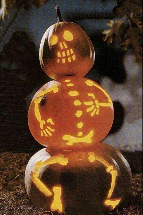 Best skeleton pumpkin ideas on pinterest halloween