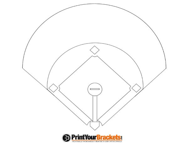 Printable Baseball Diamond Diagram Baseball Pinterest Baseball
