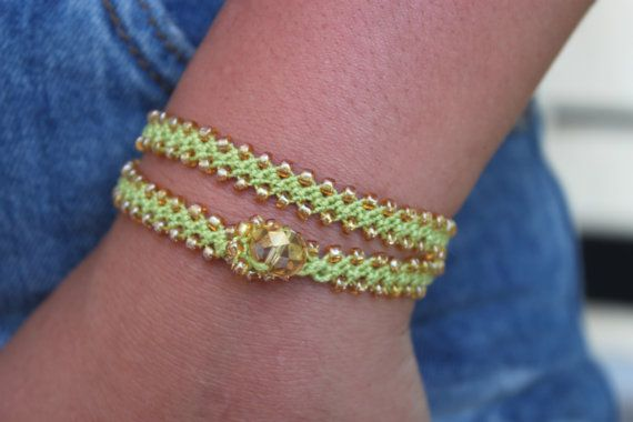 Turkish Crochet Double Wrap Love Knot Bracelet Door Monroejewelry