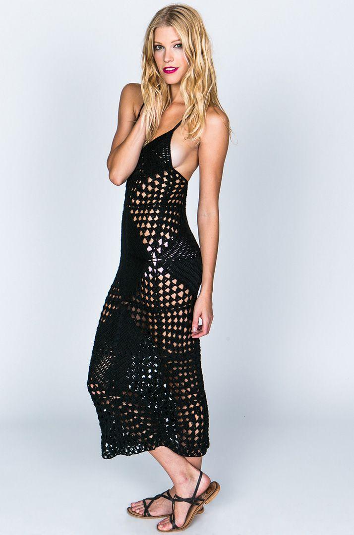 Indah Syra Crochet Maxi Dress