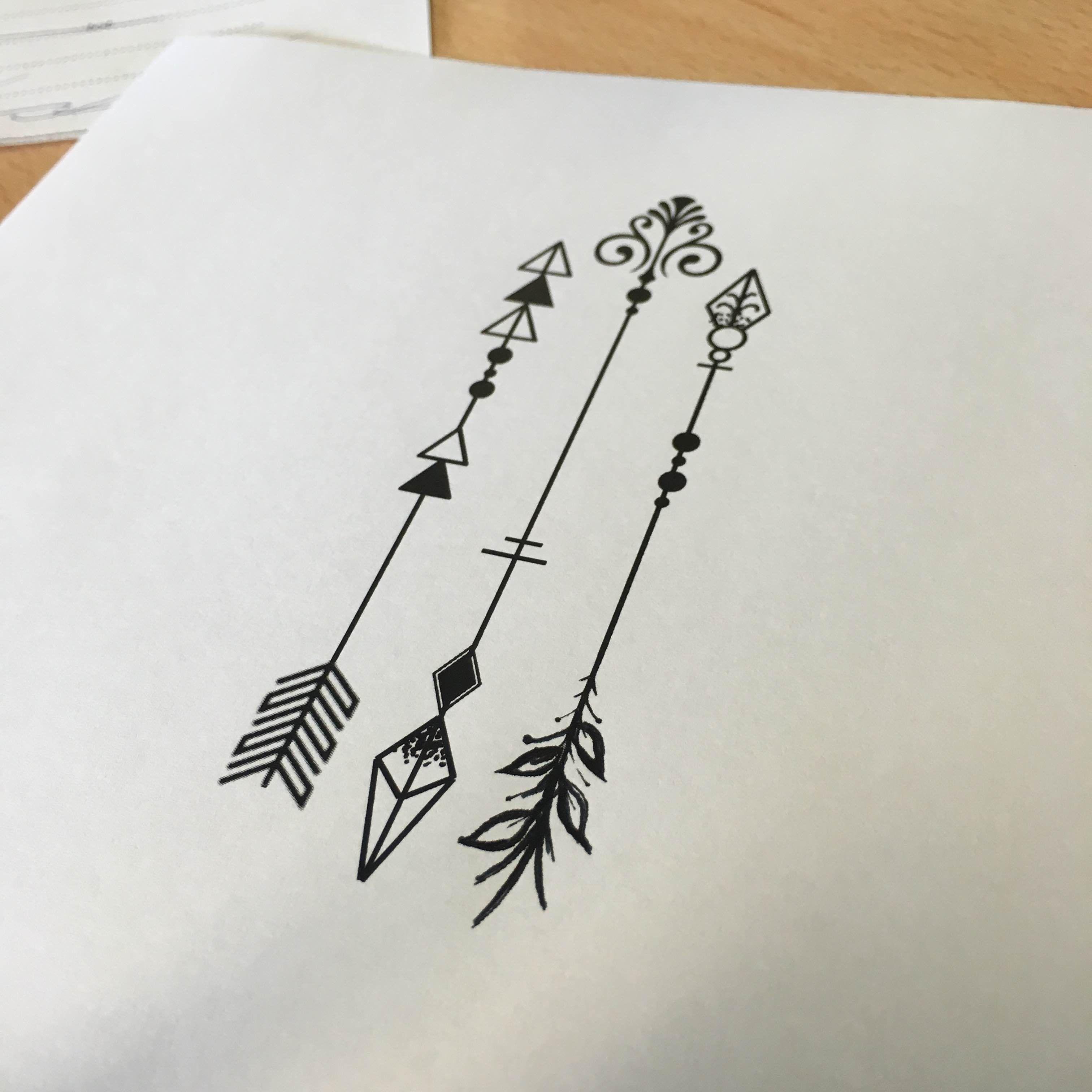 Three arrows tattoo - own design   Tattoos   Pinterest   Arrow ...