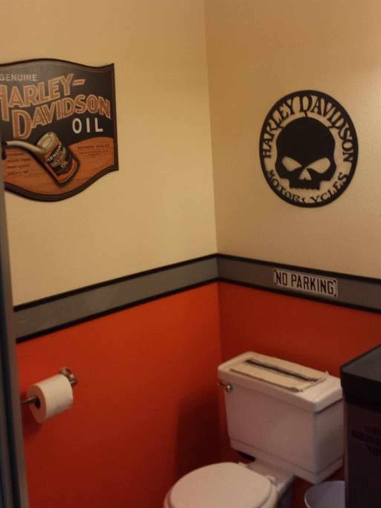 Harley Davidson bathroom h & d stuff Pinterest