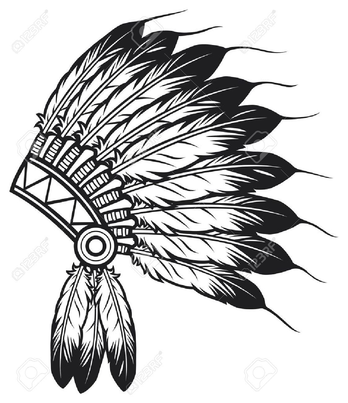 Native American Indian Chief Headdress Indian Chief Mascot Native American Symbols Native American Headdress Headdress Art