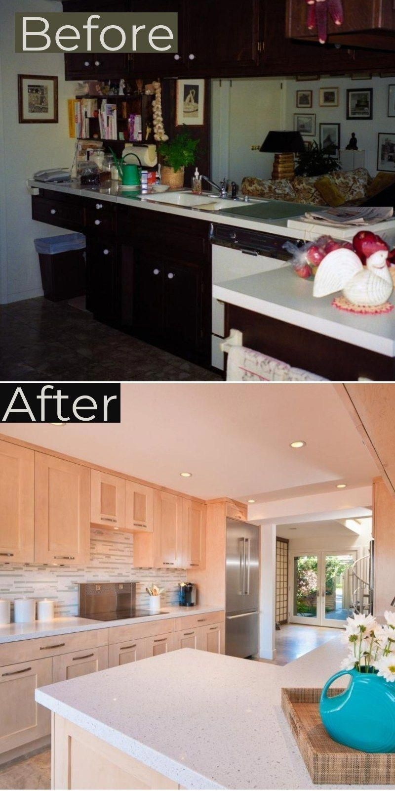 galley kitchen remodel before and after ideas 2019 trends onabudget small bef after bef on how to remodel your kitchen id=83597