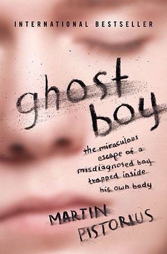 Ghost Boy - the miraculous escape of a misdiagnosed boy trapped inside his own body - by Martin Pistorius. The author and his fascinating story were featured today on the first episode of NPR's new radio program Invisibilia. Available on Bookshare at https://www.bookshare.org/browse/book/947039. (Book cover image: Blurry photo of a child's face, with eyes closed).