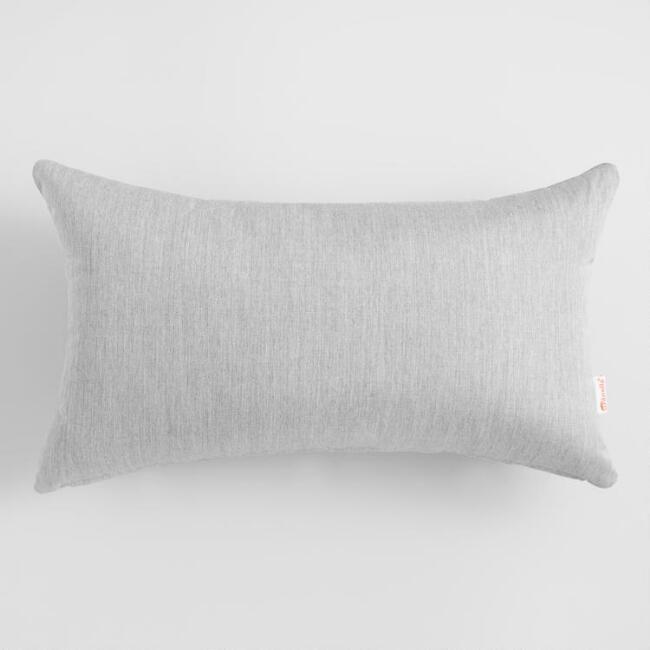 Sunbrella Granite Canvas Outdoor Patio Lumbar Pillow: Gray   Acrylic By  World Market | Granite, Pillows And Decking