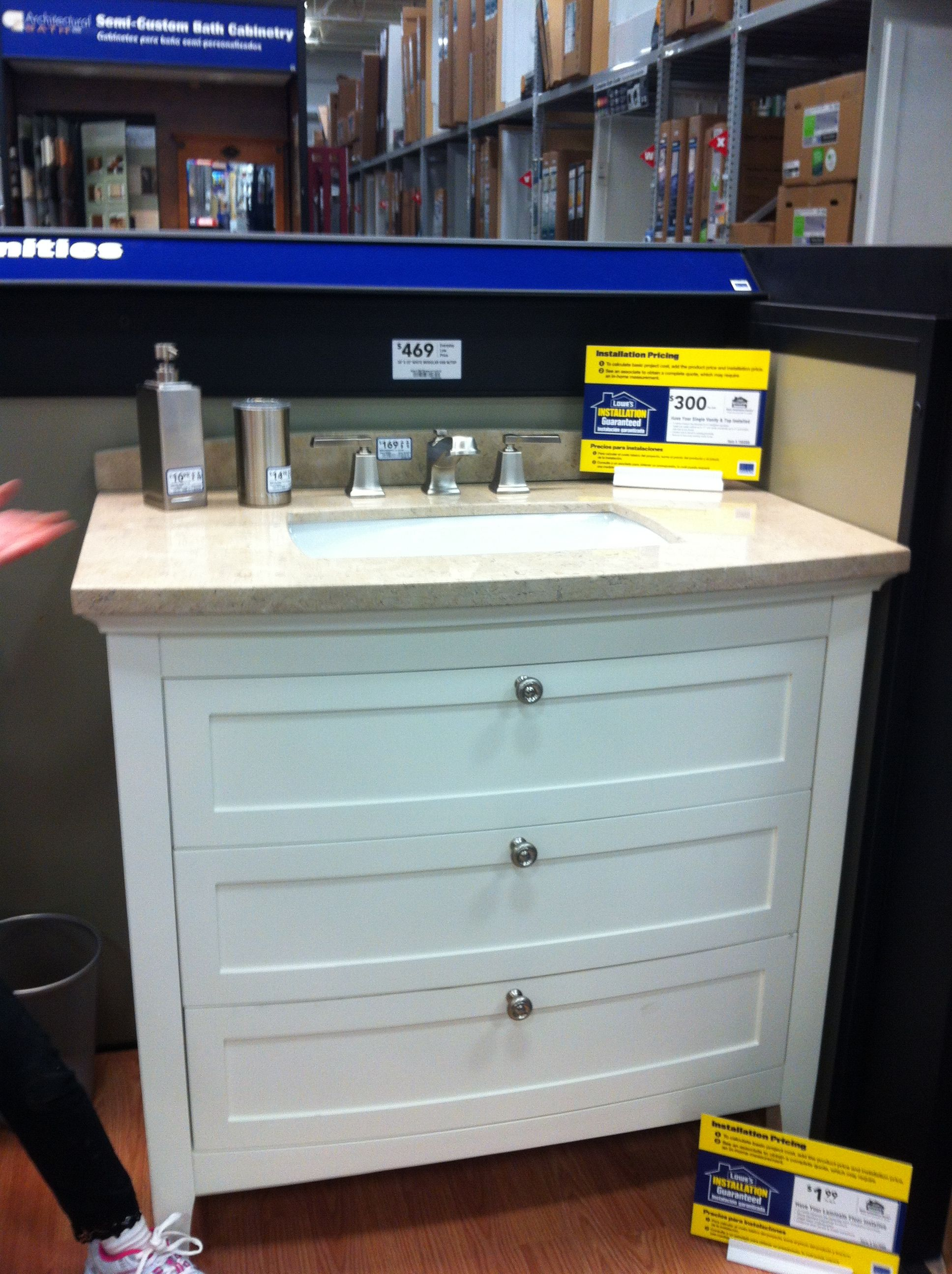1/2 Bath Vanity At Lowes