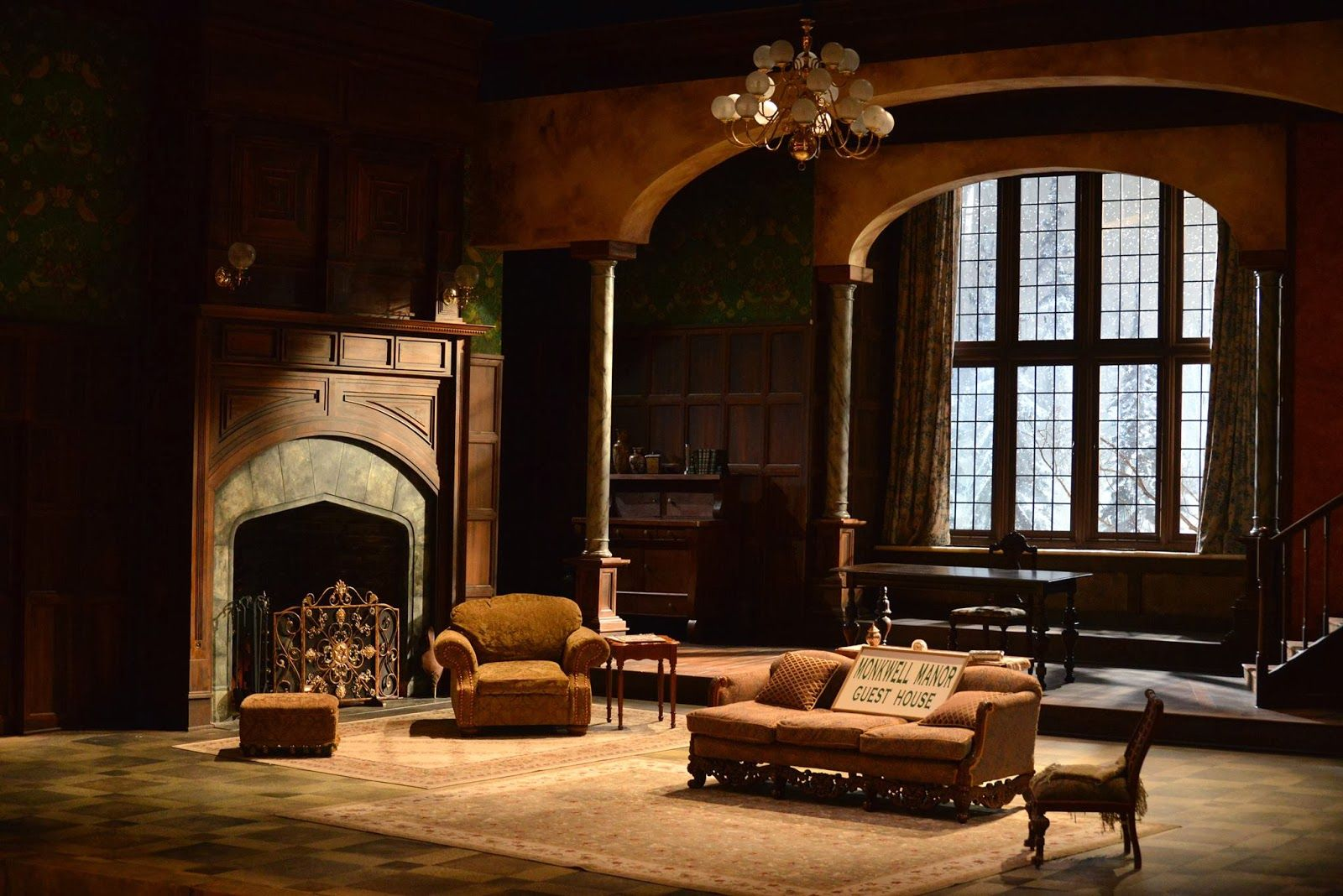 Mousetrap At The Resident Ensemble Players Set Design Theatre Scenic Design Resident
