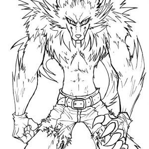 Werewolf Awesome Drawing Of Werewolf Coloring Page Awesome