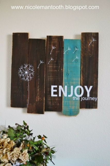 Diy Pallet Wall Art Dandelion Photograph Wood Wall Art On