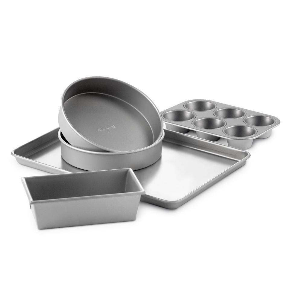 Calphalon 5 Piece Silver Nonstick Bakeware Set Bakeware Baking