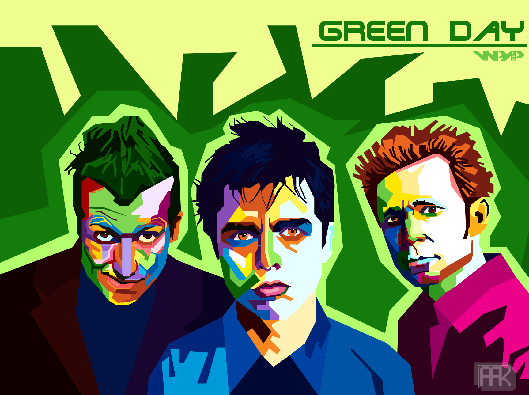 Green Day In Wpap My Favorite Band